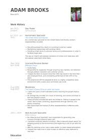 Equity Trader Resume Sample Resumes Impression Drawing Likewise