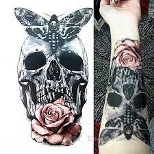 1 Pcs Dočasné Tetování Voděodolné 3d Paže Hrudník Papír Tetovací Nálepky