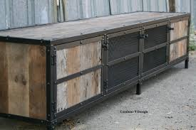 Reclaimed Media Cabinet Buy A Hand Made Vintage Industrial Mid Century Modern Media