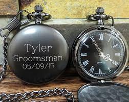 engraved mens watch personalized groomsmen pocket watch gunmetal monogrammed pocket watch gifts for men groomsmen gift