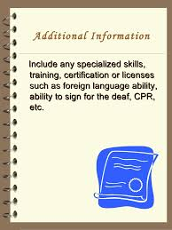 Additional Information On Resume Cool Additional Information Resume Kenicandlecomfortzone