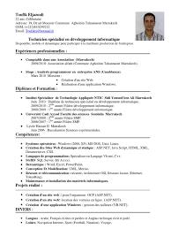 Exemple De Cv Technicien Informatique Lettre De Motivation 2017