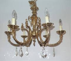 wiring chandeliers gorgeous ornate brass and crystal chandelier 6 arms newer