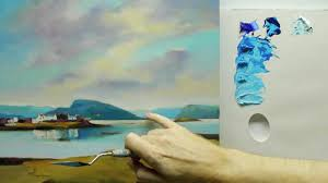 how to paint landscapes colour mixing acrylics using colour strings you