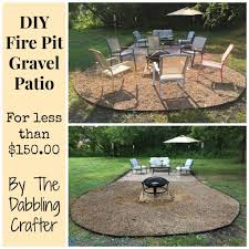 what to put around a fire pit will pea gravel explode in curved