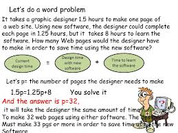 let s do a word problem 1 5p 1 25p 8 you solve