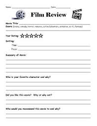 best film review ideas writing expressions a simple film review sheet to accompany any movie watching experience