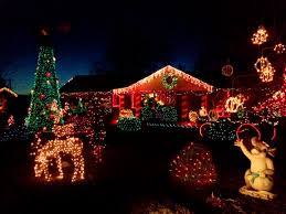 xmas lighting decorations. house decorated with christmas lights xmas lighting decorations