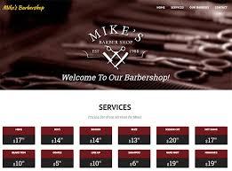 Barber Shop Website 100 Barber Shop Shave Parlor Web Designs