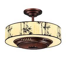 tcl ceiling fan light vintage chinese chandelier negative ion fan light luxury hall chandelier living room