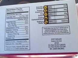 Mcdonalds Calorie Counts No More Avoiding The Obvious