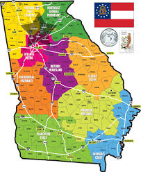 georgia state map  john welch georgia real estate