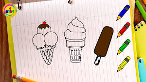 Ice Cream Coloring Pages Learn How To Draw Coloring Book Youtube