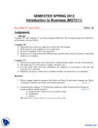 introduction to business management assignment docsity introduction to business management assignment