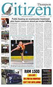 March 16 2016 By Thompson Citizen Issuu