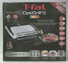 t fal gc712d54 optigrill stainless steel electric grill 160