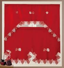 Red Kitchen Curtain Sets Daniels Bath Royal Kitchen Curtain Set Color Red Products