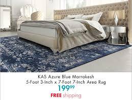 kas azure blue marrakesh 5 foot 3 inch x 7 foot 7