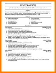 5+ word grocery store manager resume