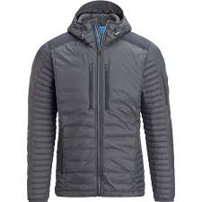 kuhl fire hooded down jacket men s carbon