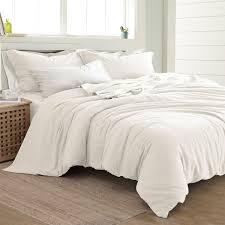 amrapur overseas linen cotton blend 3 piece duvet set
