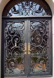 front doors dallasRomantic scrolled wroughtiron doors   Welcome Home