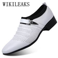2018 summer sandals men shoes luxury brand slip on oxford shoes for mens pointed toe dress shoes leather wedding shoes man italy qpjt04613