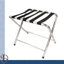 Luggage Racks For Guest Rooms Impressive Hotel Chrome Luggage Rack Folding Round Tube Luggage Rack Heavy