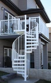 metal spiral stair