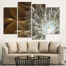 4 piece wealth and luxury golden flowers canvas wall art paintings it make your day on 4 piece canvas wall art with 4 piece wealth and luxury golden flowers canvas wall art painting