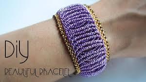 easy cuff style beaded bracelet