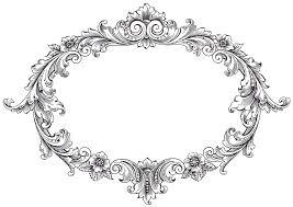oval frame design. Vintage Clip Art \u2013 Fancy Oval Frame Oval Frame Design A