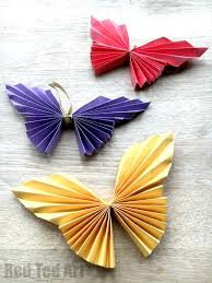 easy paper butterfly red ted art s blog easy paper butterfly origami beautiful origami butterflies for kids to make these look super