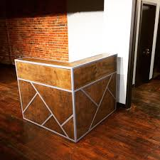 custom made small reception desk point of desk register