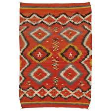 antique navajo blanket oriental rug handmade wool rug red color for