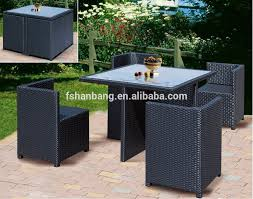 space saving patio furniture. spacesaving garden rattan cube set table outdoor dining space saving patio furniture