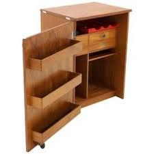 erik buch portable bar cabinet or bar cart on casters teak all original