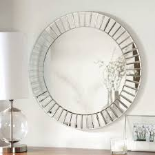 large modern round glass wall decorative mirror beveled frameless home decor 28