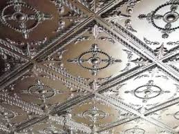 Elegant Glue Up, Nail Up Ceiling Tiles  DIY