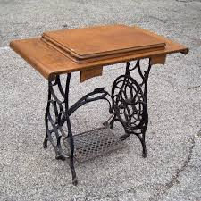 Antique Cast Iron Treadle sewing machine base & top upcycle DIY Table.
