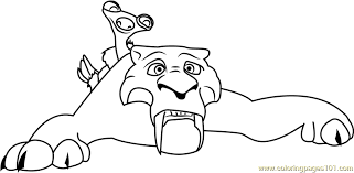 Small Picture Diego Ice Age Coloring Page Free Ice Age Coloring Pages