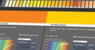Wave Gel Matching Color Chart Colour Information And Spectral Charts For Lee Lighting Filters