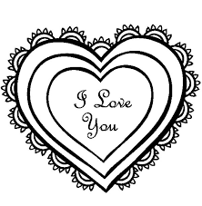 Small Picture Drawing Heart of I Love You Coloring Pages Batch Coloring