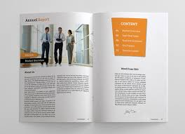 Clean And Simple Annual Report On Behance