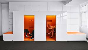 office design company. office phone booth at international company berlin offices design