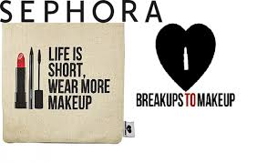 sephora makeup logo. sephora teams up with us accessories brand breakups to makeup for new bag range logo
