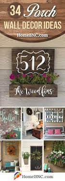 Floral laser cut wall decor traditional outdoor decor a set of two identical pieces of outdoor décor. 34 Best Porch Wall Decor Ideas And Designs For 2021