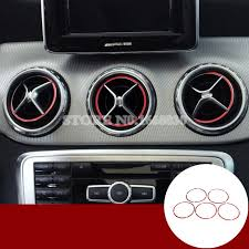 7 Pieces Air Vent Outlet Ring Trim for <b>Mercedes Benz C Class W205</b> ...