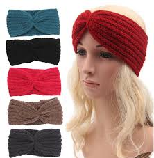 Knit Ear Warmer Pattern New Wholesale Women's Knitted Wide Headband Knit Hair Band Headbands
