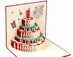 Bc Worldwide Ltd Handmade 3d Pop Up Popup Card Happy Birthday Cake